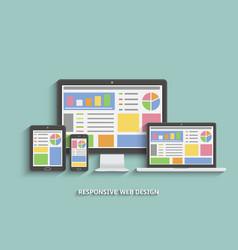 responsive web design web design technology vector image