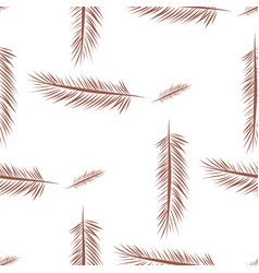 Seamless of feather cover set line style vector