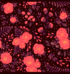 seamless roses pattern in vector image