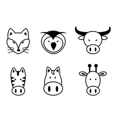 Set of animal vector