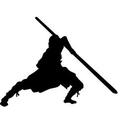 Shaolin monk vector