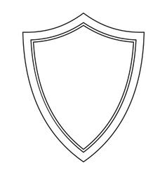 Shield for war icon outline style vector