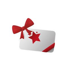 shopping gift card vector image