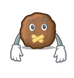 Silent meatball mascot cartoon style vector