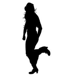 Silhouette of flamenco dancer vector