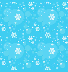 Snowflakes seamless pattern winter ornament vector