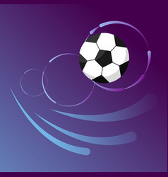 soccer ball in goal flight on gradient background vector image