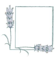 Sophisticated lavender flowers vintage style vector