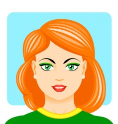 Sporting woman portrait vector