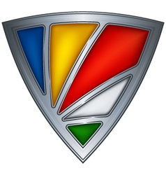 steel shield with flag seychelles vector image