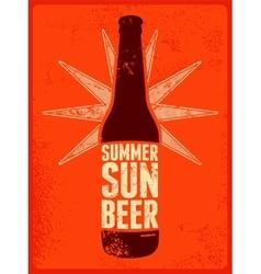 Summer Sun Beer Retro grunge beer poster vector