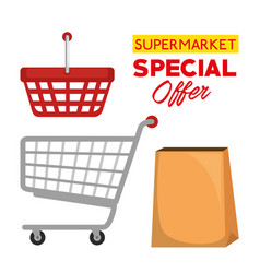 supermarket special offer icons vector image