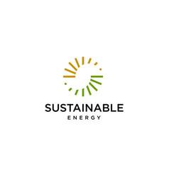 Sustainable logo vector