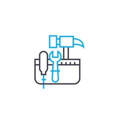 Tool kit thin line stroke icon tool kit vector