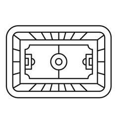 top soccer field icon outline style vector image