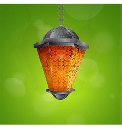Traditional Ramadan lantern vector image