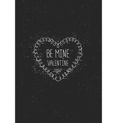 Vintage love greeting card vector image