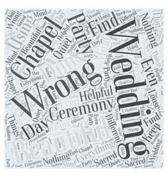 Wedding chapels Word Cloud Concept vector