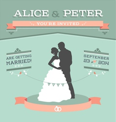 Wedding invitation 2 s vector image