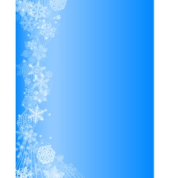 abstract blue christmas background with white snow vector image