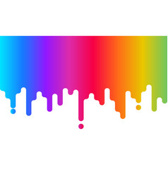 dripping paint rainbow background abstract vector image
