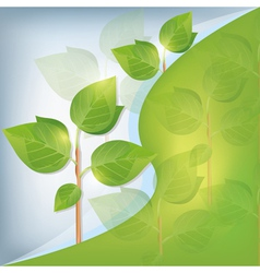 Eco background abstract with plant vector image vector image