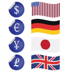 international currency vector image vector image