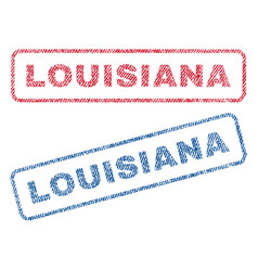 louisiana textile stamps vector image