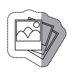 monochrome contour sticker with pictures vector image vector image