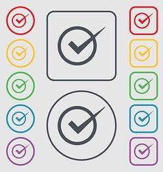 Check mark sign icon Checkbox button Symbols on vector image
