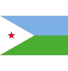 Djibouti flag image vector image vector image