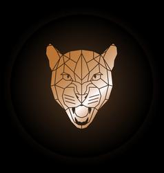logo puma head in polygonal style vector image vector image