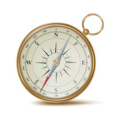 realistic compass template design element vector image