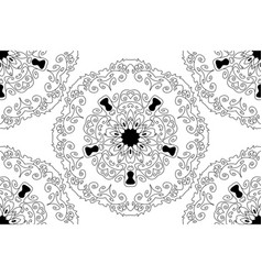seamless round star lace ornamental pattern vector image vector image