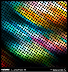 Abstract dotted mosaic background vector image vector image