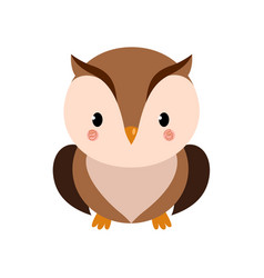 Adorable owl character vector