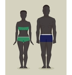 Black man and woman bodies vector image