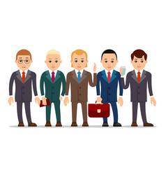 business man set of businessman character in vector image