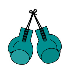 color image set boxing gloves sport element vector image vector image