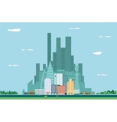 Day Urban Landscape City Real Estate Summer vector image