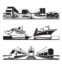 Global transportation set vector image vector image