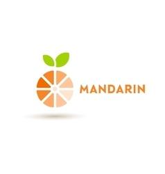 logos mandarin orange flat design vector image vector image
