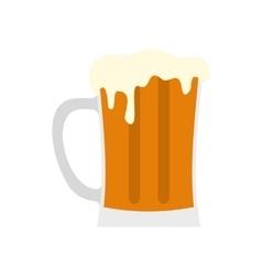 Mug of beer icon flat style vector image vector image