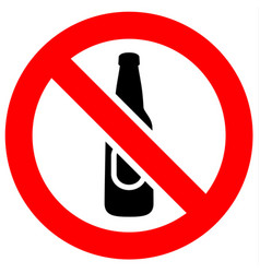 prohibition red sign vector image vector image