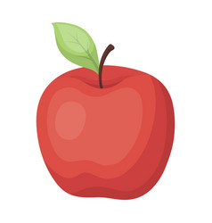 red apple snack at school lunch at the break vector image