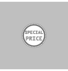 special price computer symbol vector image