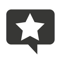 speech bubble social media icon vector image