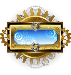 Banner with Gears on a White Background vector image vector image