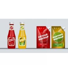 Digital red and brown ketchup vector image