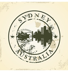 Grunge rubber stamp with Sydney Australia vector image vector image